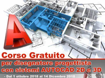 Corso gratuito per disegnatore progettista con Autocad 2D e 3D